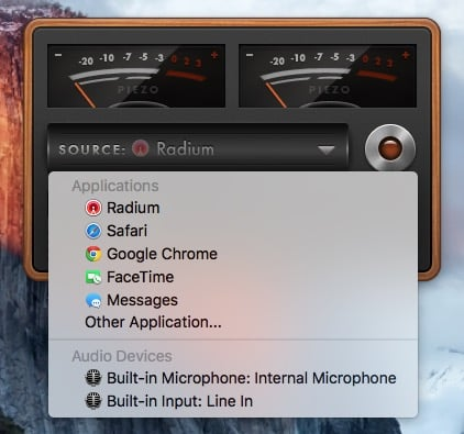 enregistrer la radio sur mac Piezzo sources audio