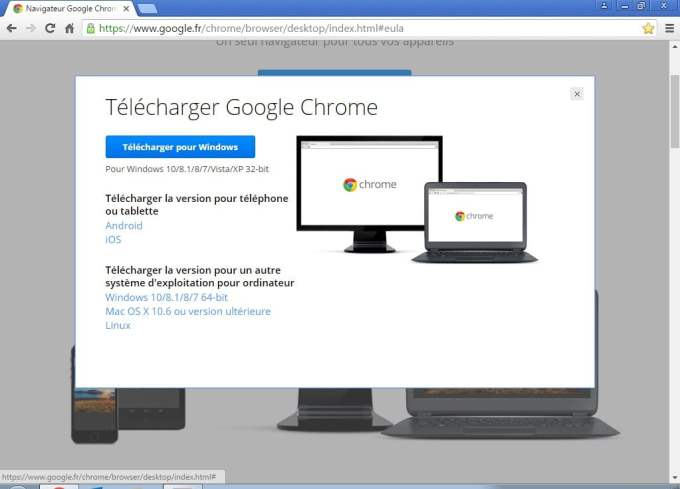 installer google chrome 64 bits windows 10 8 7