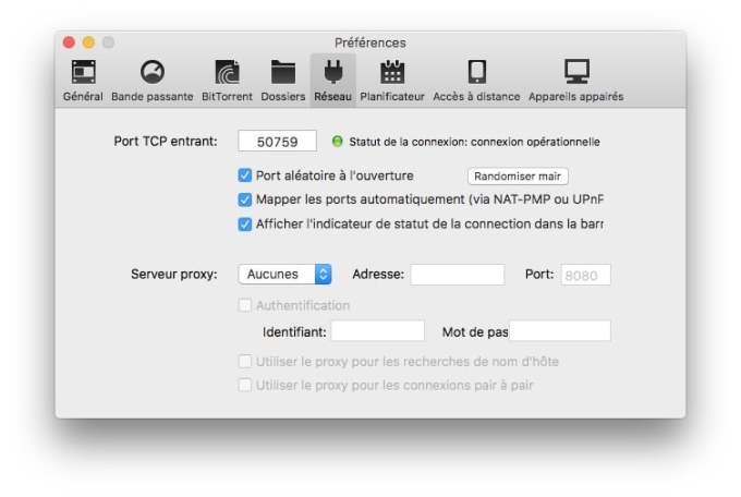 utorrent macos sierra connexion operationnelle