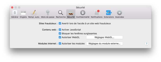 Installer Flash Player Mac OS Sierra Safari securite