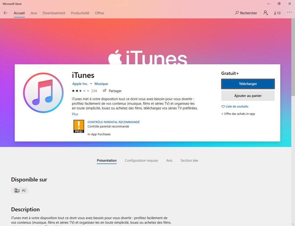 installer itunes pour windows pour backup iphone ipad ipod touch