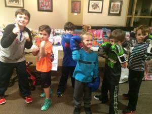 A special KIDZ Fit Boxing Class was held on December 15. The kids brought in toys to be donated to various charities.