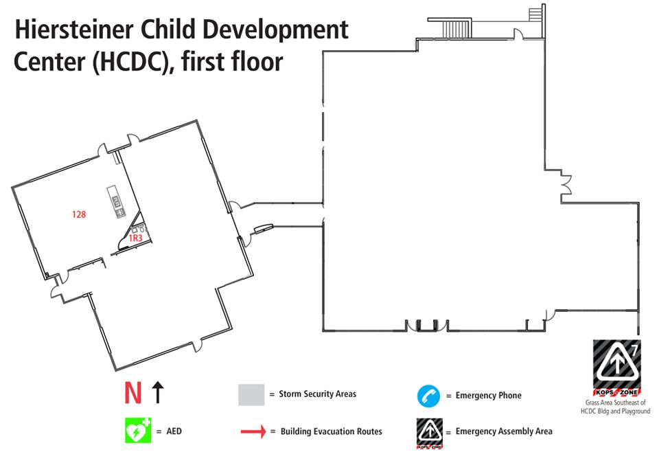 Hiersteiner Child Development Center Building Map (HCDC)