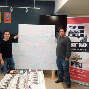 Claudio Tamburri and Jeremy Dohan  wanted to raise a free speech wall so they could engage with students on campus
