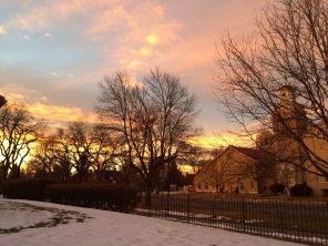 Sunset on Montview