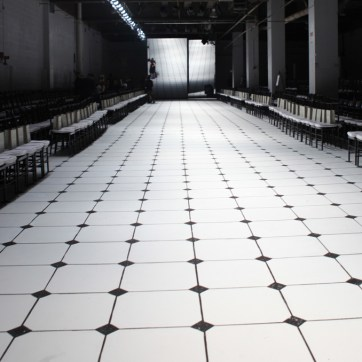 Hand painted floor. Jason Wu NY Fashion Week SS13. Designed and Produced by BureauBetak. Built by JCDP