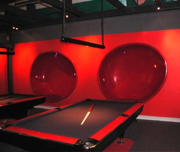 Custom pod seats for Bowl Mor, bowling alley