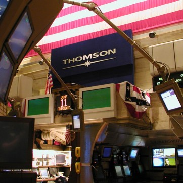 Thomson sign at the NY Stock Exhange
