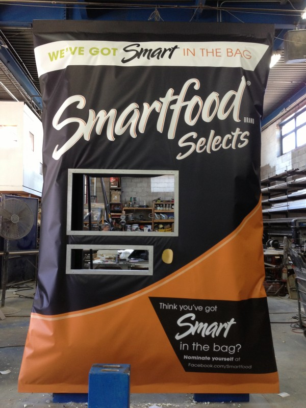 Giant Smartfood bag. Produced by the Marketing Arm. Built by JCDP