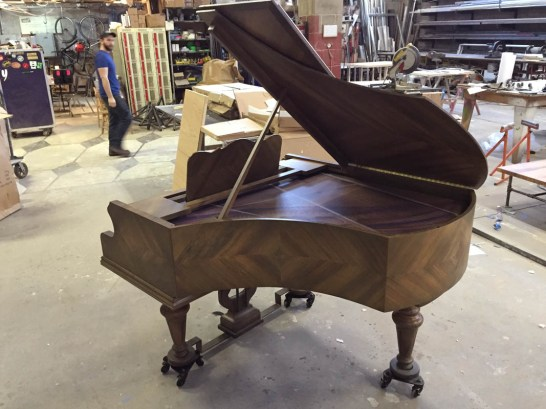 Replica piano for An American in Paris. Props Supervisor Kathy Fabian/Propstar