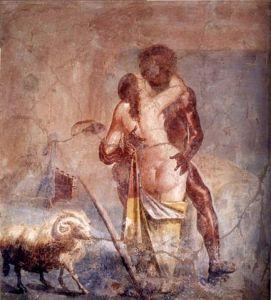 Galatea and the Cyclops (Roman fresco found at Pompeii, first century ad. Public domain)