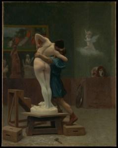 Pygmalion and Galatea by Jean-Léon Gérôme, circa 1890. (Public domain image provided by the New York Metropolitan Museum)