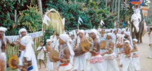Festival procession in Kandy, Sri Lanka. (Photograph by Joseph Campbell, 1955. From Asian Journals — India & Japan, copyright © 2002 and 2018 by Joseph Campbell Foundation. All rights reserved.)