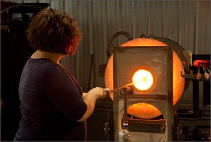 Glass Blowing Studio Rentals Using Landfill Gas  Dillsboro North Carolina