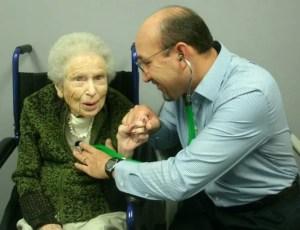 Dr. Gonzalez and patient