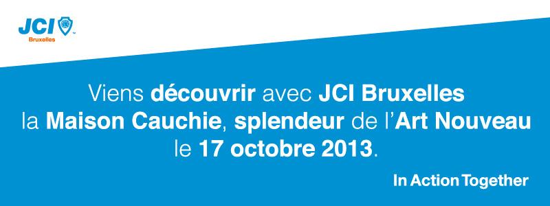 JCI Bruxelles Banniere Maison Cauchie