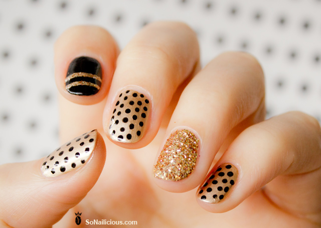 Sometimes The Prettiest Nail Designs Are Easiest Use A Dotting Tool Or Pin Any With Fine Tip To Create Polka Dot Manicure