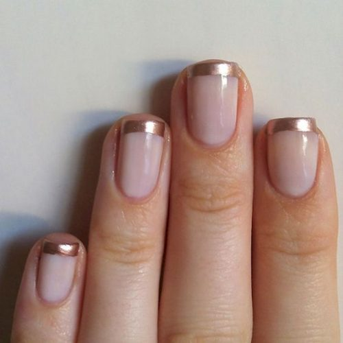 French Tips Will Always Be A Clic Choice But Make It Way More Fun This Season With Metallic Polish