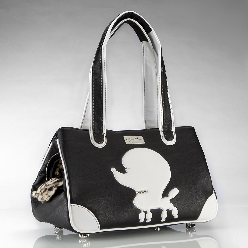 Pampered Poodle Faux Leather Rescue Me Tote