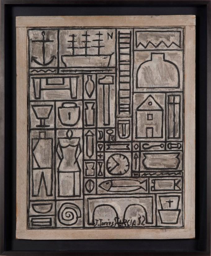 Contructif avec poisson ocre, 1932