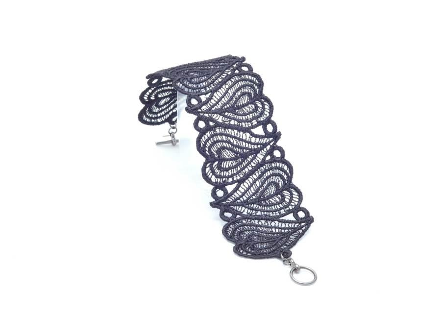 Moroccan Heart Lace Bracelet Lacelet Soft Black