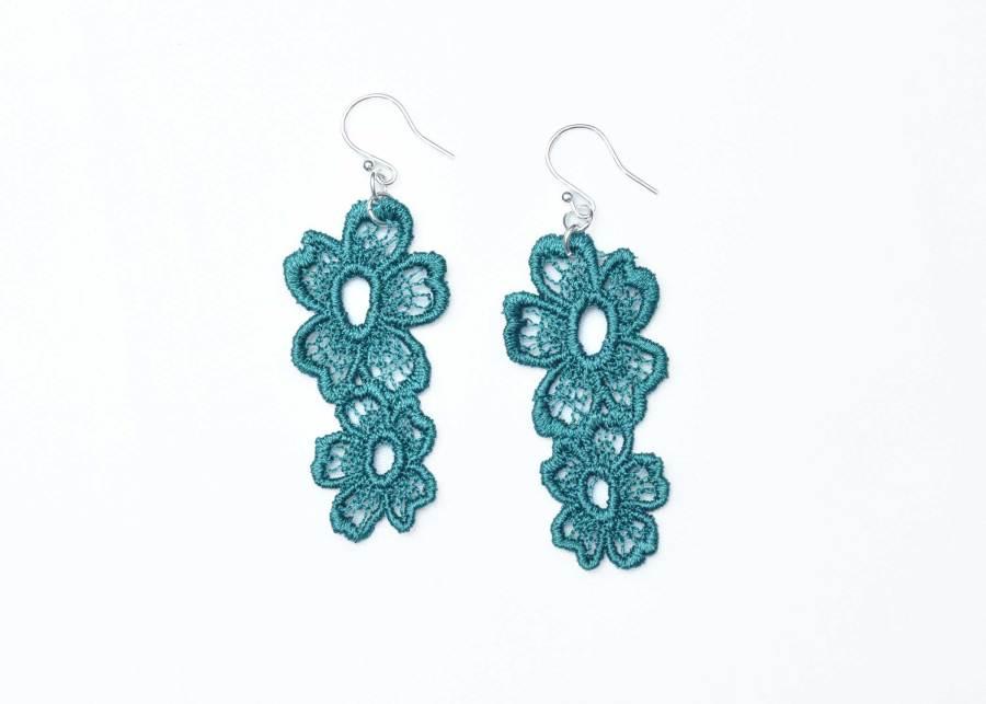 Lace Earring Daisy Dreamer in Emerald