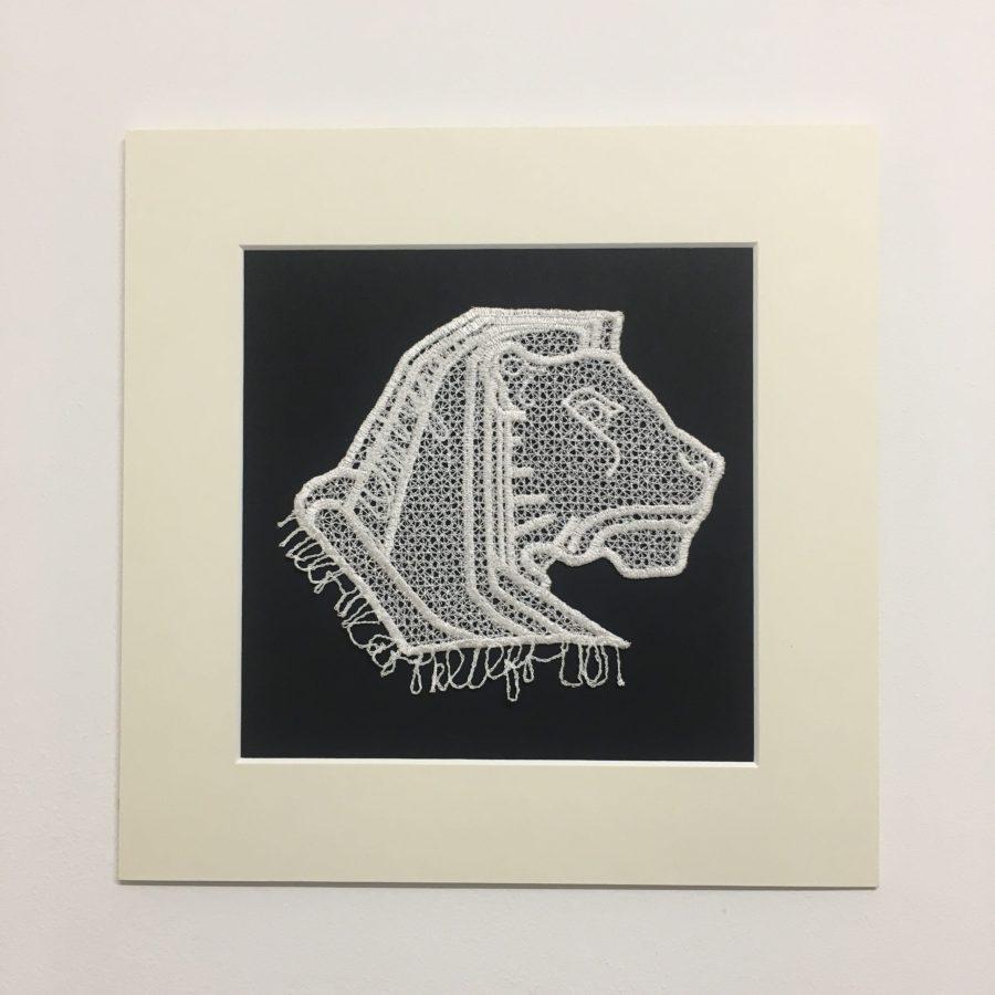 Left Lion in lace