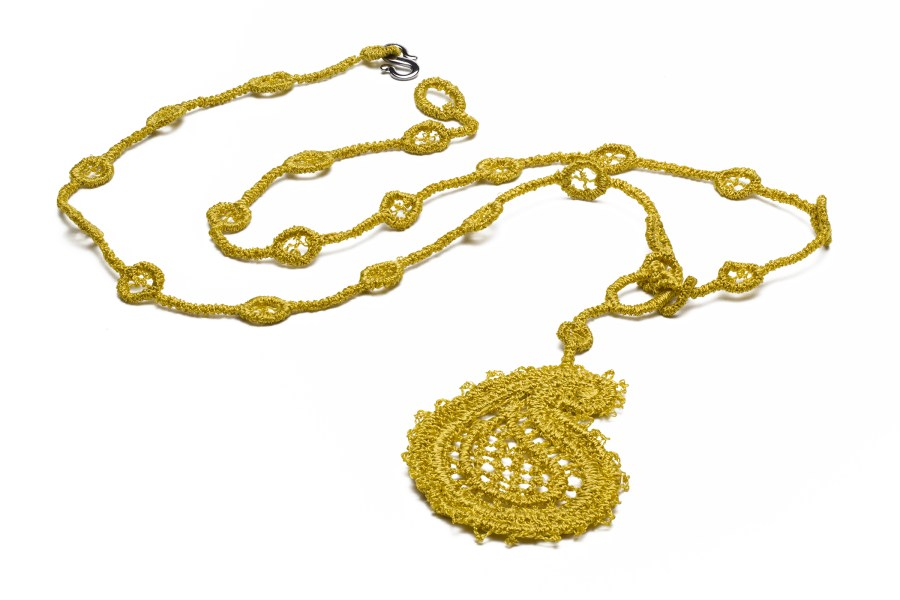Paisley dangler necklace