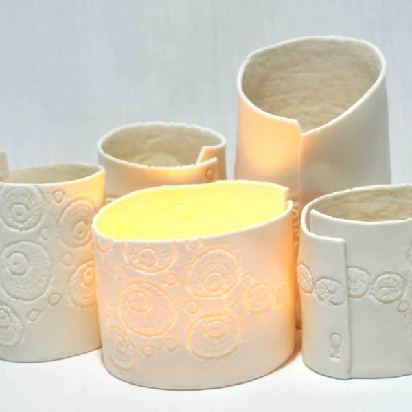 PorceLace tea lights