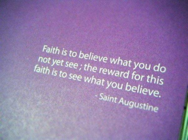 faith and believe
