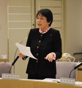 質問する大島よしえ都議=16日、東京都議会