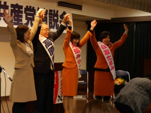 左から吉良、高原、尾張、住友の各氏=21日、東京都国立市