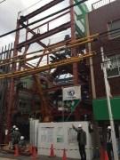 建設中の共産党都委員会の新事務所=3日、東京都豊島区
