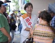 【狛江市長選】人権・暮らし守る市政に~多彩な市民が田中とも子候補を応援