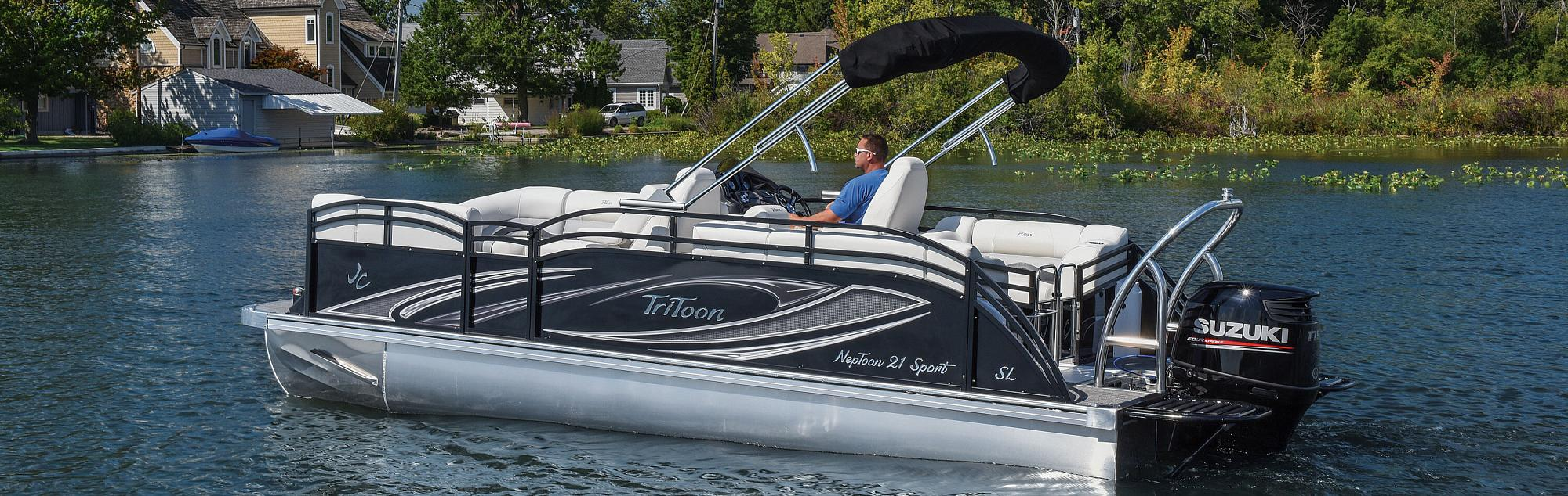 hight resolution of jc tritoon marine pontoon boat quality