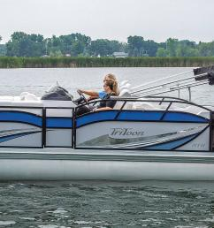 2019 jc tritoon marine sporttoon 24tt hth pontoon boat side  [ 2000 x 864 Pixel ]