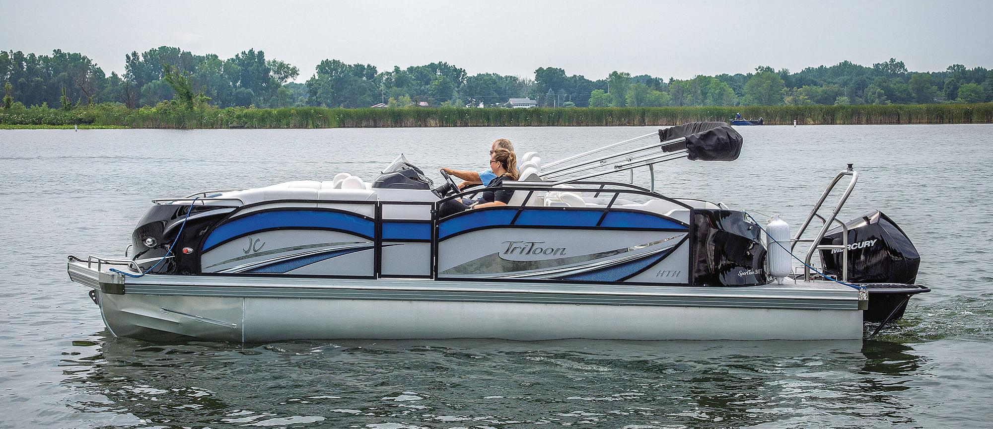 hight resolution of  2019 jc tritoon marine sporttoon 24tt hth pontoon boat side