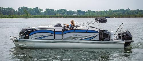 small resolution of  2019 jc tritoon marine sporttoon 24tt hth pontoon boat side