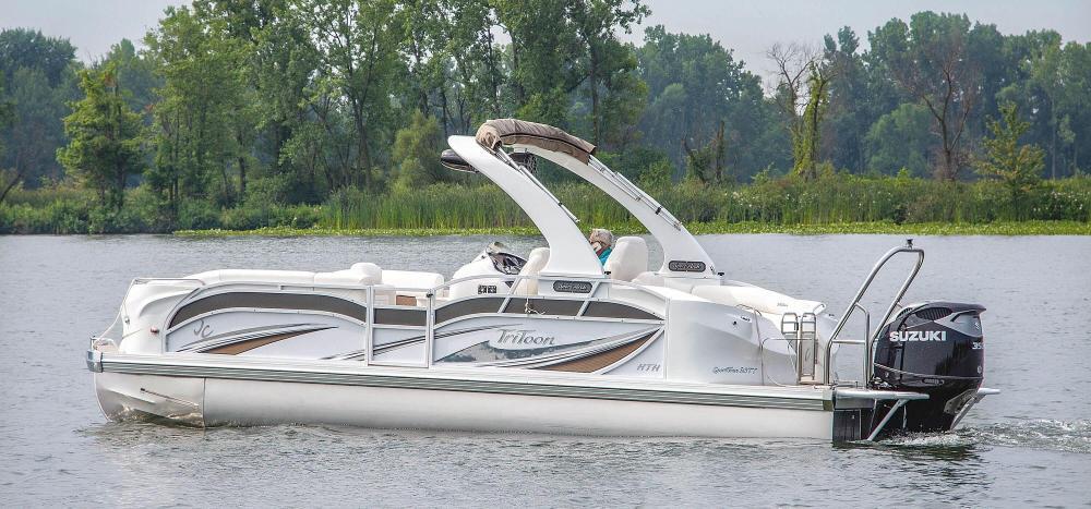 medium resolution of 2019 jc tritoon marine sporttoon 26tt hth pontoon boat side