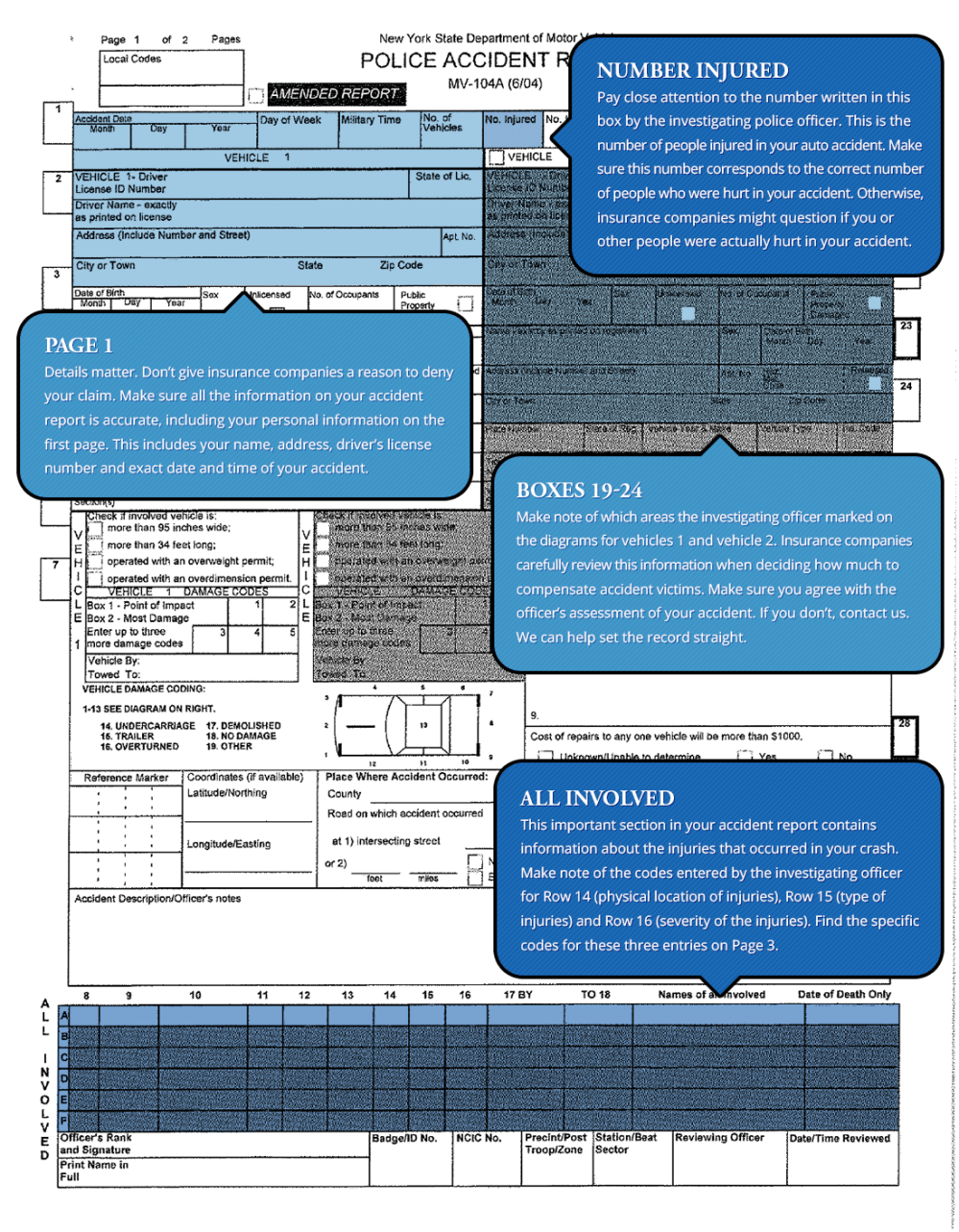 medium resolution of how to read your new york accident report page 1