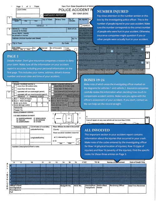 small resolution of how to read your new york accident report page 1