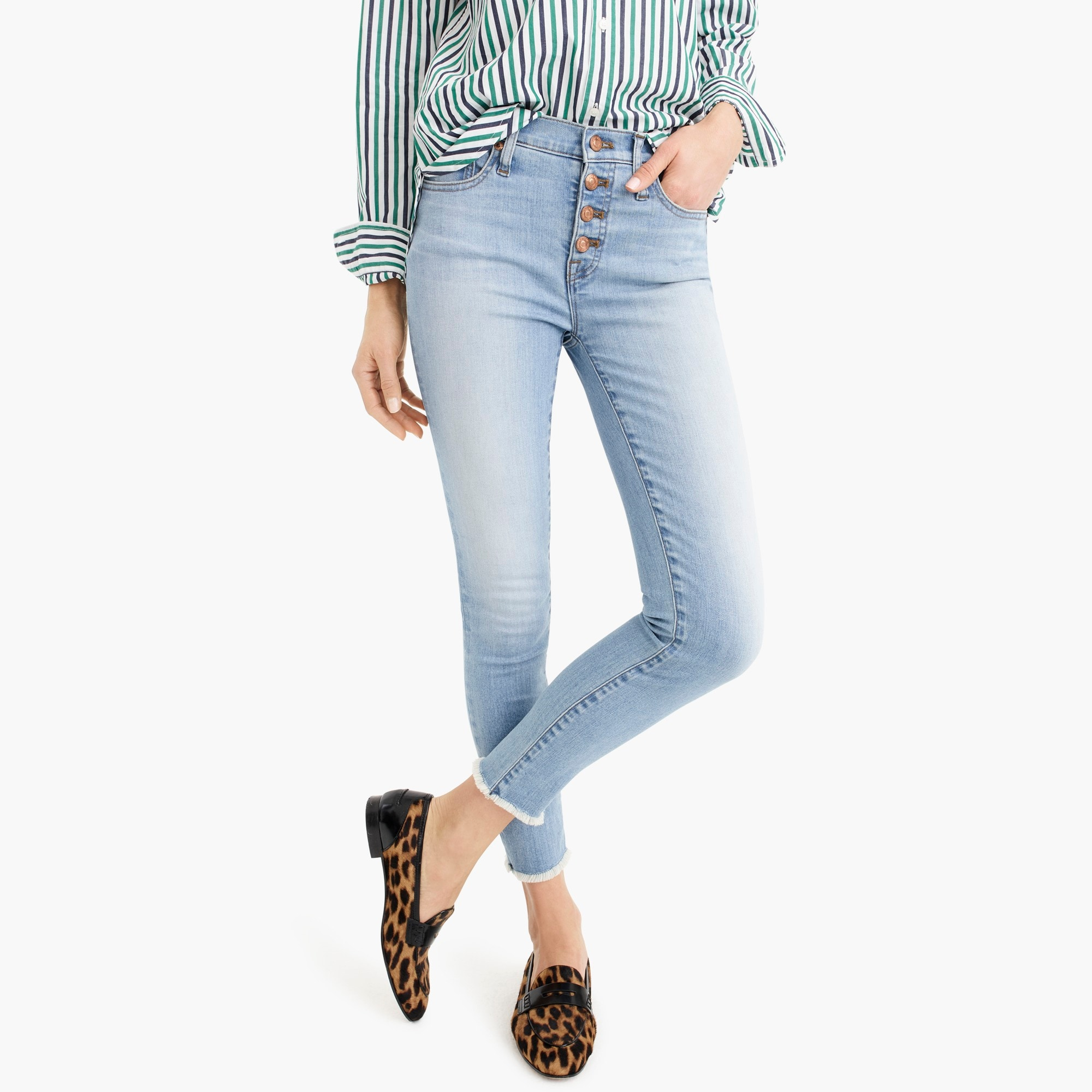 Womens eco high rise toothpick jean in light worn wash also women   denim the collection jew rh jcrew