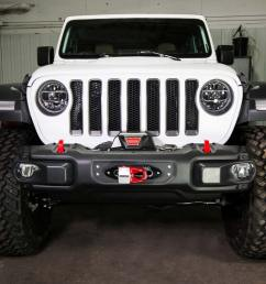 jl wrangler steel bumper winch plate 2018 jeep wrangler and gladiator  [ 1024 x 788 Pixel ]