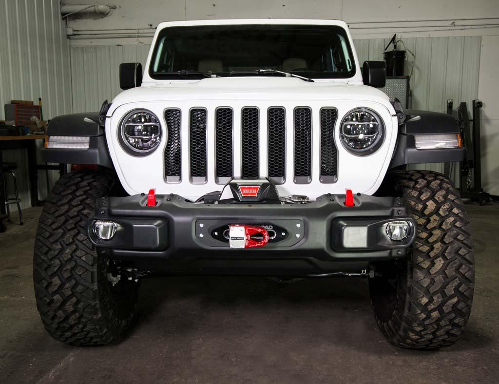 hight resolution of  jl wrangler steel bumper winch plate 2018 jeep wrangler and gladiator