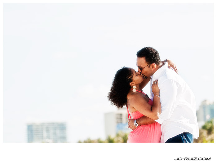 An Engagement Session on South Beach