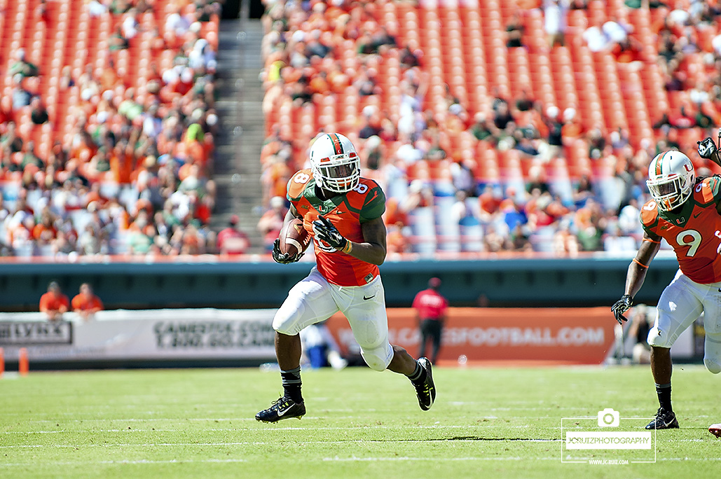 Duke Johnson runs against Cincinnati