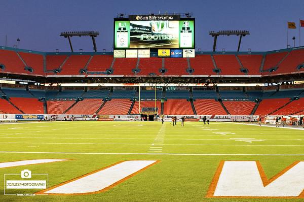 Sun Life Stadium prior to the Miami Hurricanes vs. FSU game
