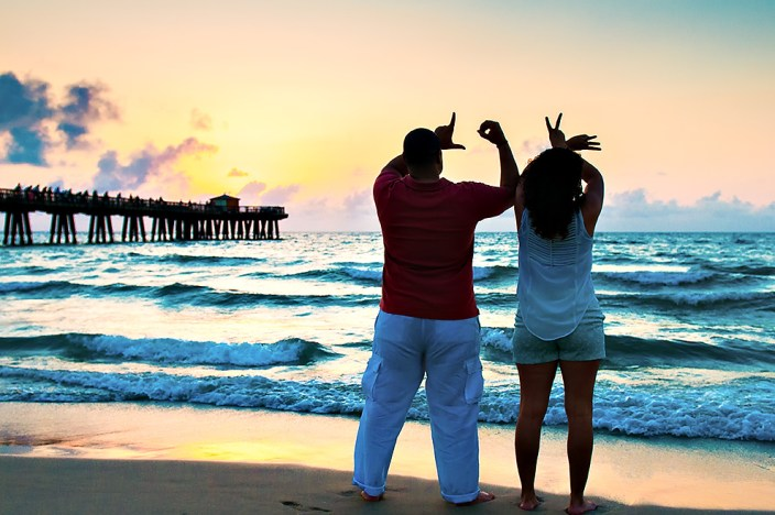 A fort Lauderdale beach engagement photo shoot