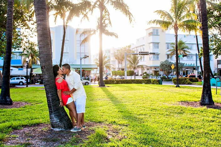 An Ocean Drive engagement session