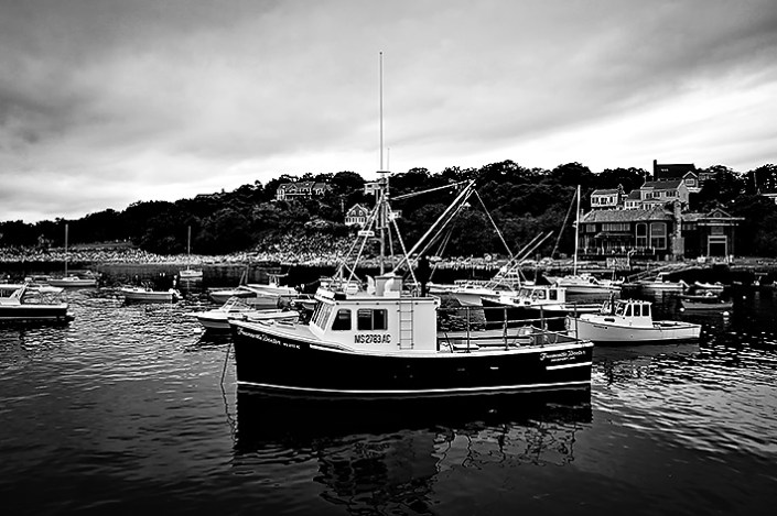 A boat in Rockport Harbor